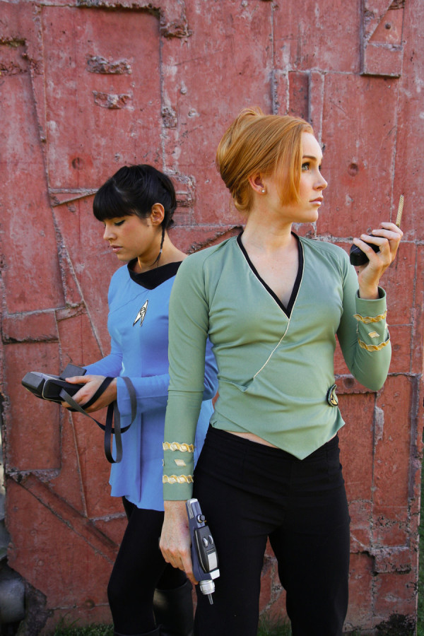Star Trek Kirk and Spock cosplay