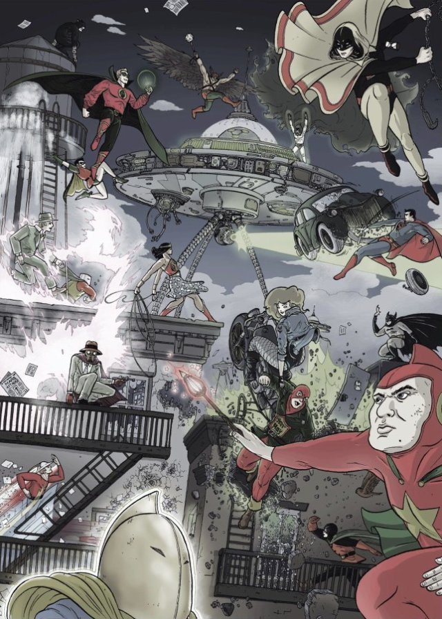 The Justice Society of America by Ulises Farianas