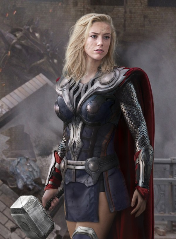 Thor cosplayed by Amber Heard