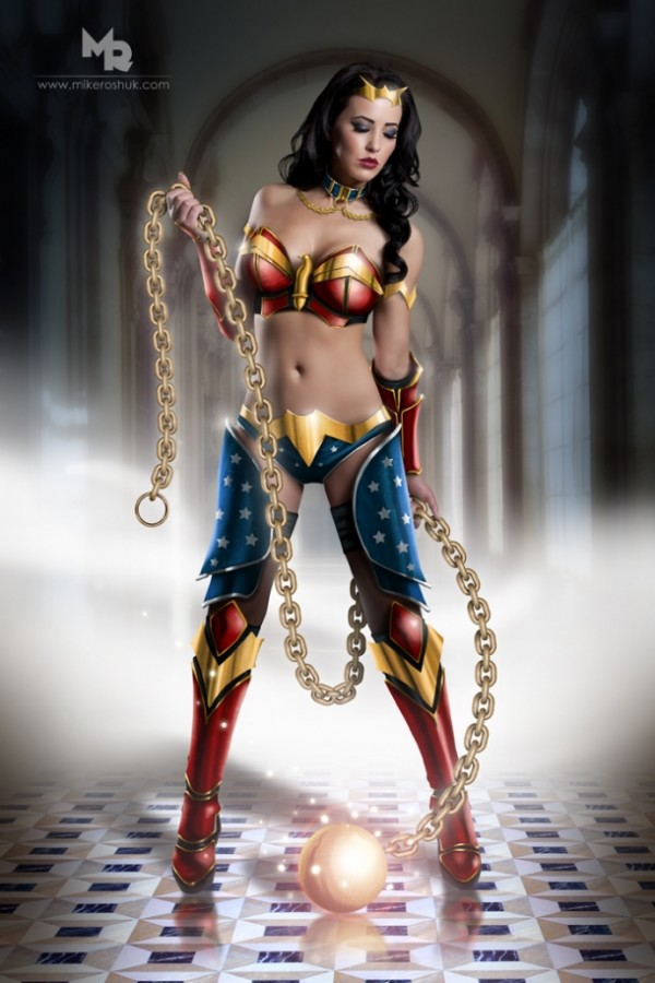 Wonder Woman cosplay, photographed by Mike Roshuk