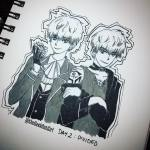 inktober Day 2 Divided Saeran and Ray from mysticmessenger hellip