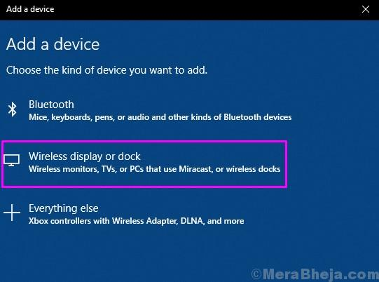 Add Wireless Display