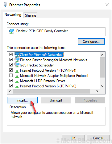 Install Client Microsoft Networks