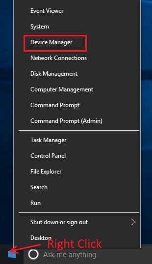 Open Device Manager Wacom Pen Not Working Windows 10