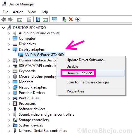 Uninstall Nvidia Control Panel Missing Windows 10