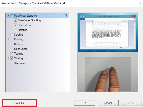 Set Mouse Settings To Default