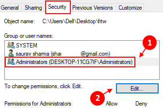 Admin Edit Permissions Min