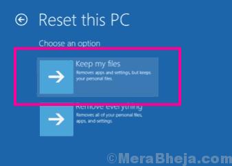 Reset Keep Files