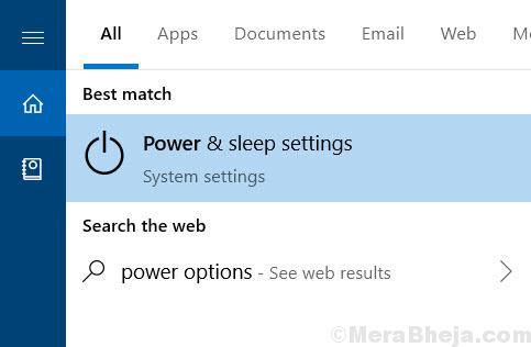 Power Sleep Settings