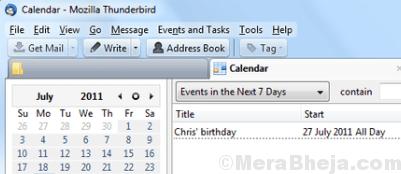 Lightening Calendar