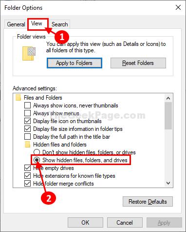 Lihat Tampilkan Folder