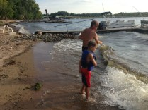 Skipping rocks with Uncle Tim