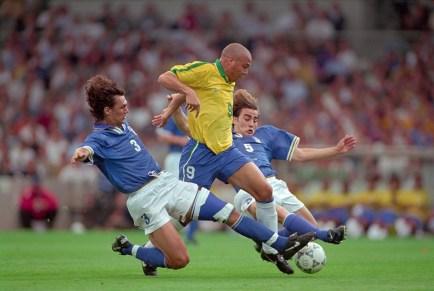 Maldini & Cannavaro's double tackle on Ronaldo