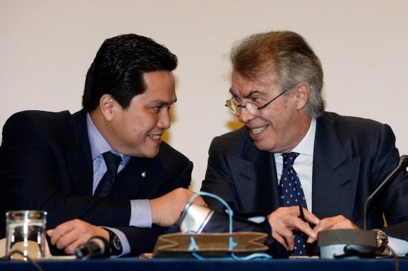 Erick Thohir e Massimo Moratti
