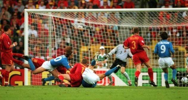 Europeo 2000: vittoria dell'Italia contro il Belgio