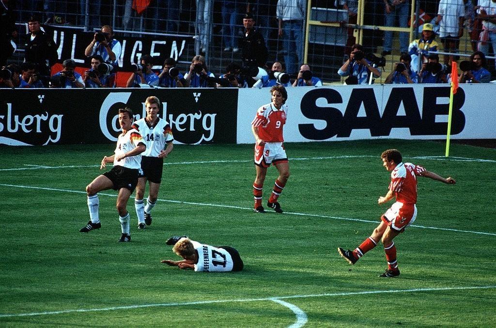 Gol del vantaggio danese