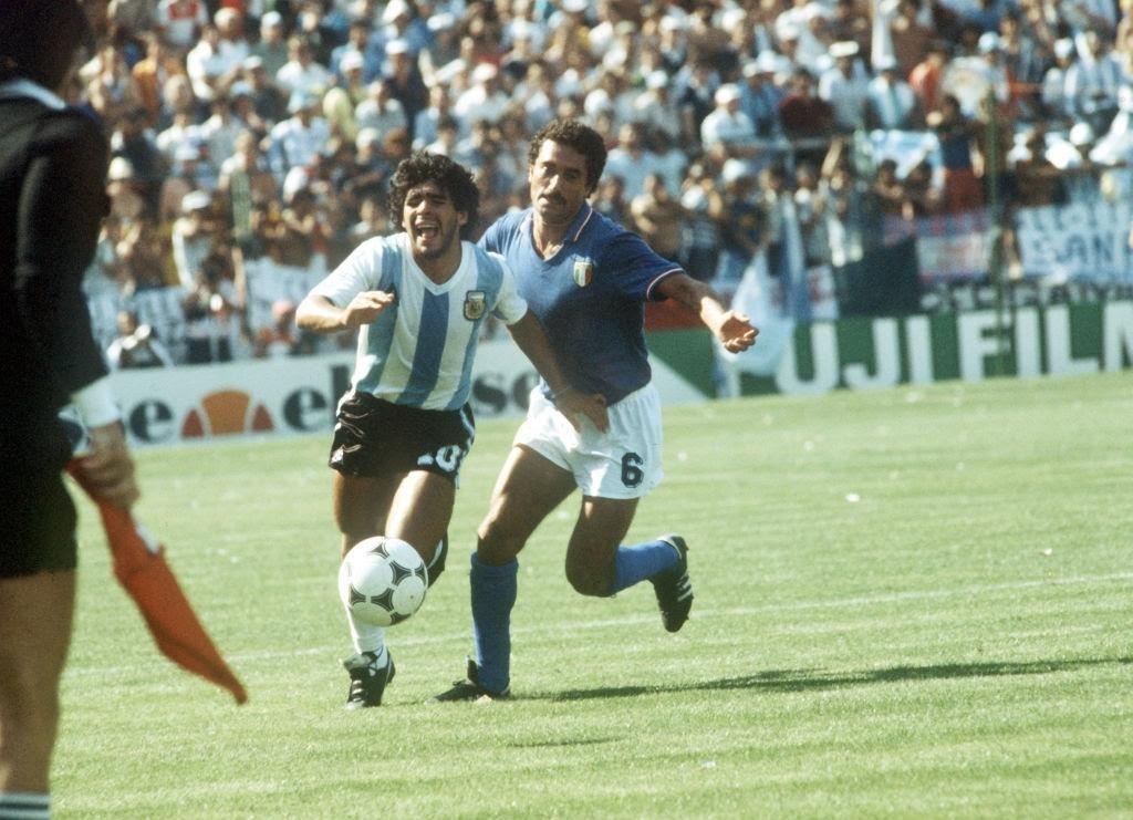 Gentile in marcatura su Maradona