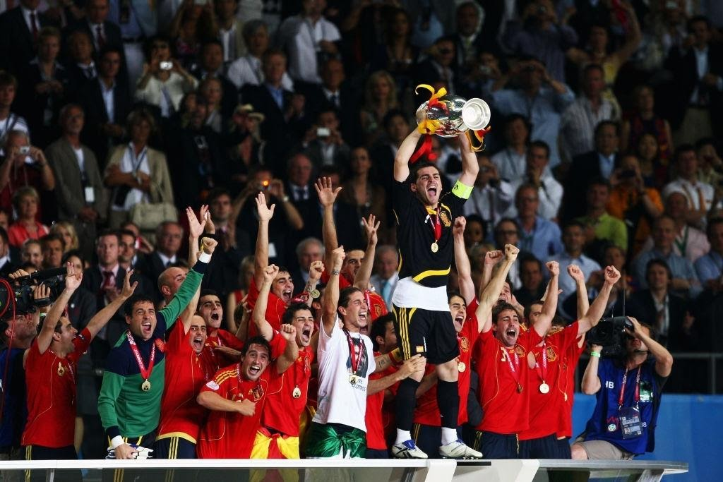 La Spagna festeggia la vittoria ad Euro 2008