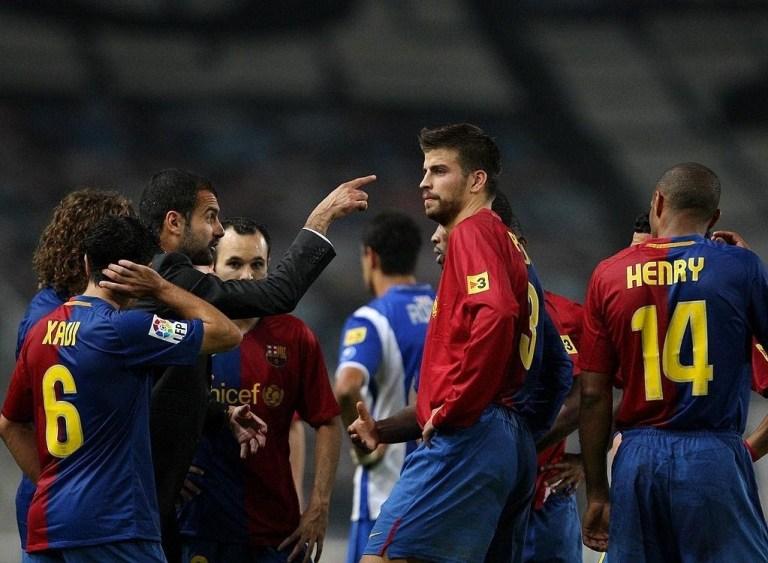 Guardiola coaching 2009 Barca
