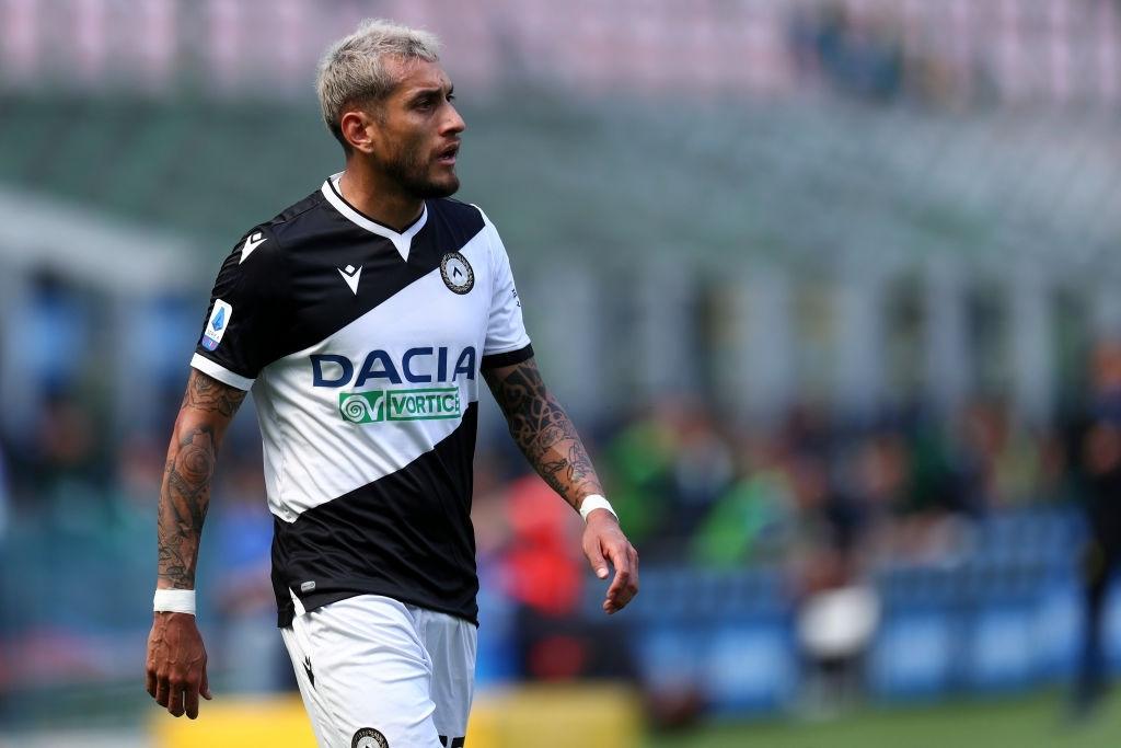 Pereyra con la maglia dell'Udinese