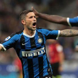 Sensi con la maglia dell'Inter