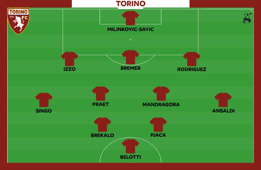 Probabile formazione del Torino