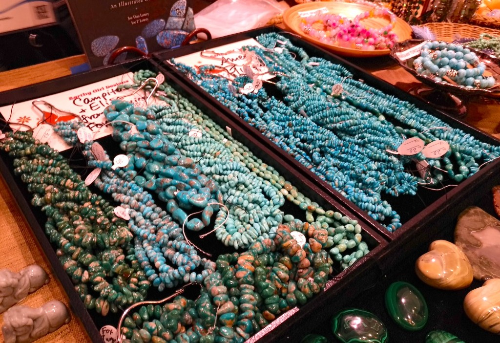 Turquoise beads from Earthy Girl Designs