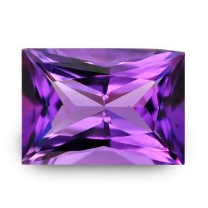 Natural Gemstone, Jewellery, Jewelry, Quartz, Purple, Amethyst, Uruguay, Rectangle, Radiant