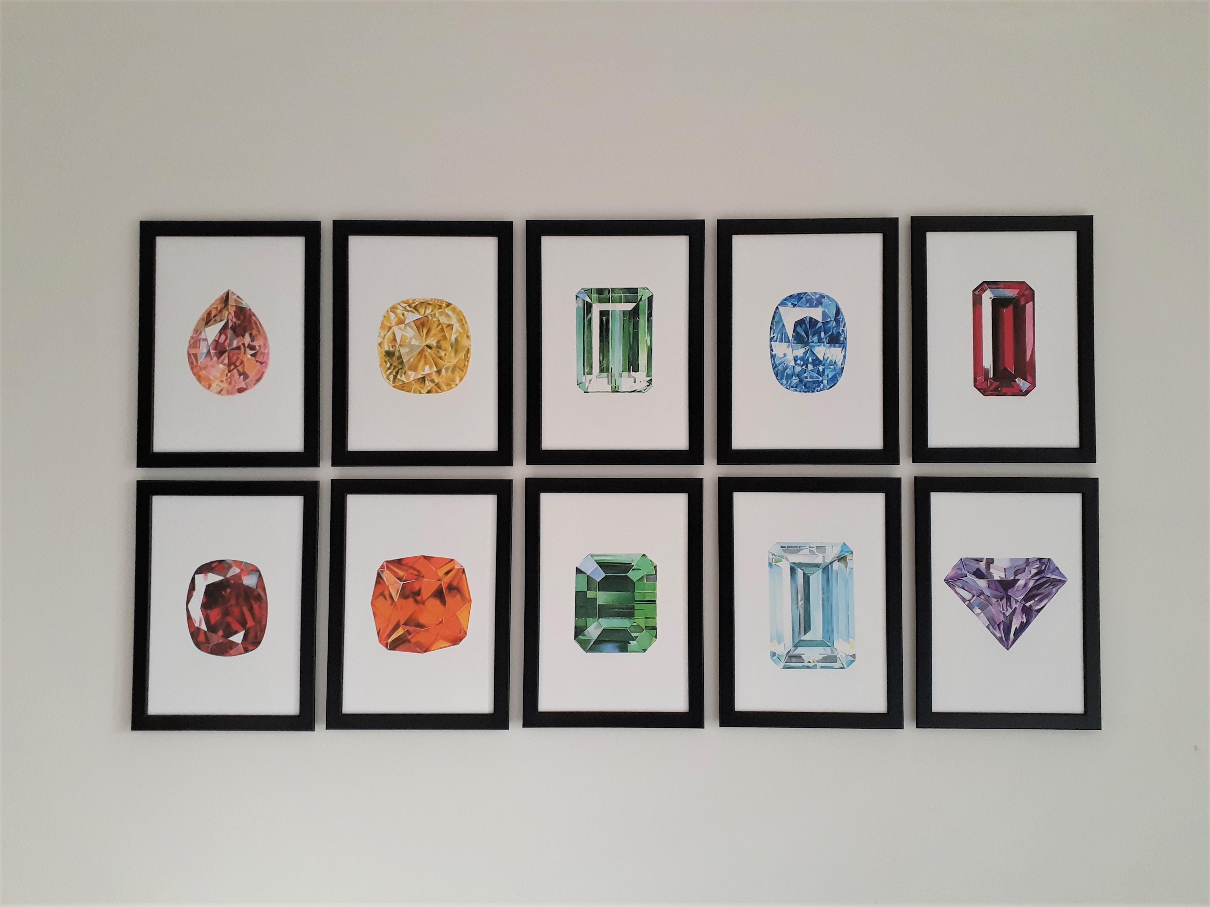 Refinery Row, The Gem Monarchy, Collaboration, Gem, Gems, Gemstones, Jewellery, Jewelry, Wall Prints, Art, Print, Decoration, Furniture