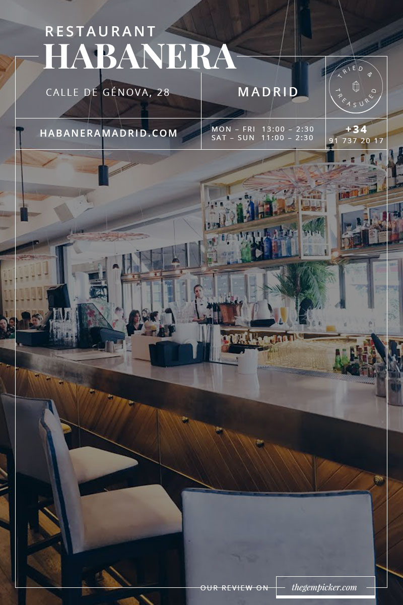 La habanera Madrid, a beautiful spot to have brunch or dinner