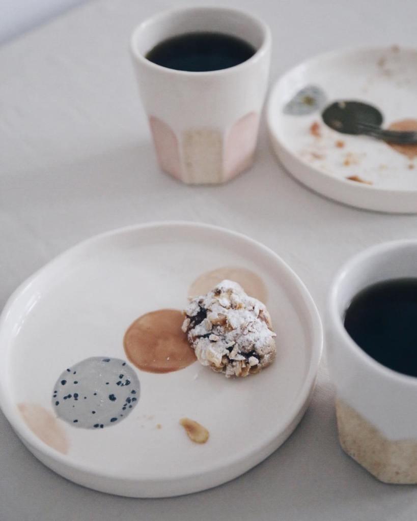 Ceramic Studio Maitoinen - dessert plate with coffee mug