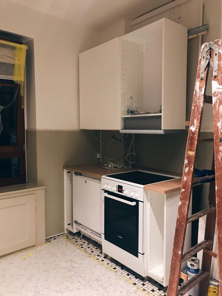 during the renovation of the kitchen