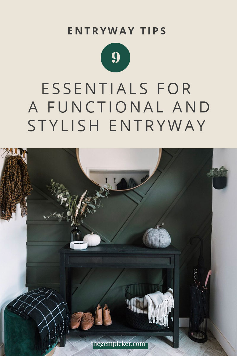 An entryway is the first impression you get from a home. So it's important that it's a good one. Let's see how to create a functional and stylish entryway