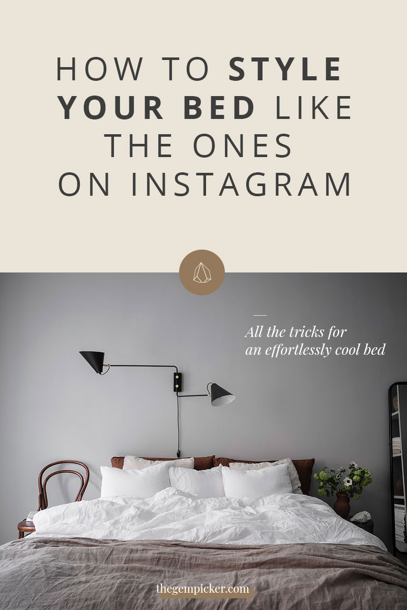 Making a bed look relaxed but not messy can be tricky. Let's see how to style your bed to achieve that beautiful casual but stylish look we see on Instagram