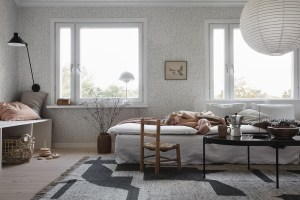 Decorating with wallpaper sandberg eden sandstone
