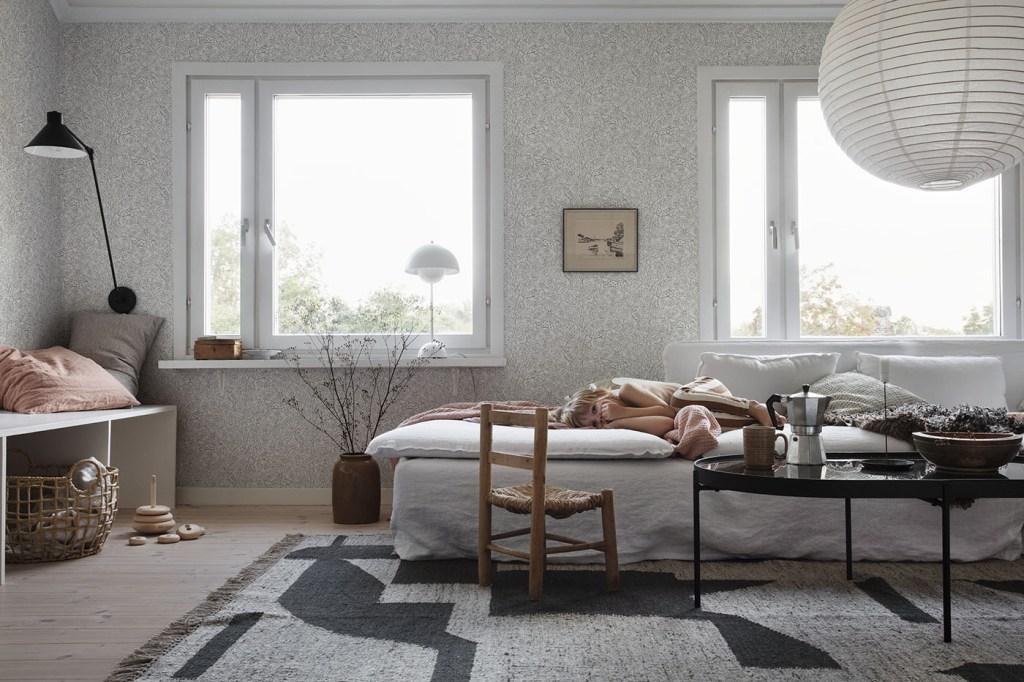 Decorating with wallpaper sandberg eden sandstone