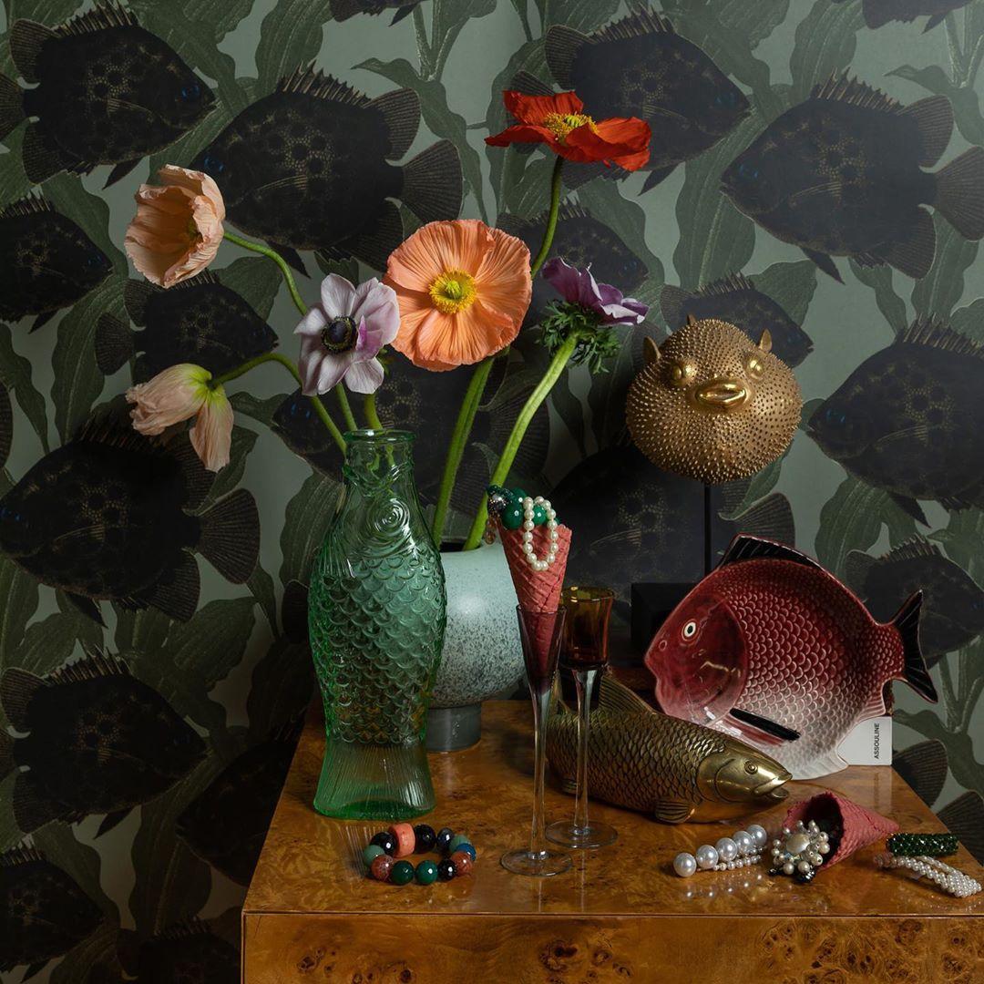 decorating with wallpaper ulricehamns by studio lisa bengtsson hakan