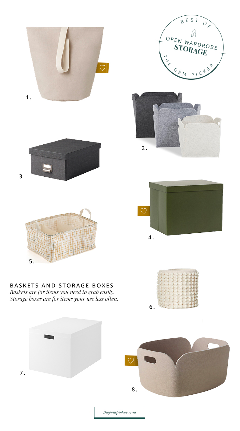storage essential open wardrobe storage baskets and boxes