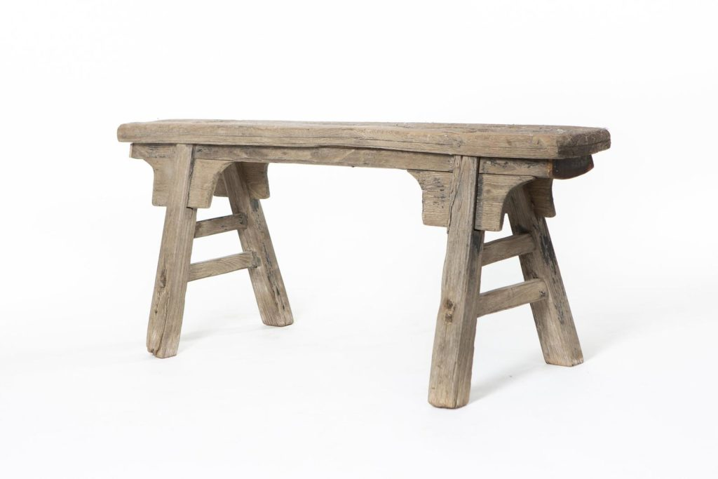 antique wooden bench by etsy