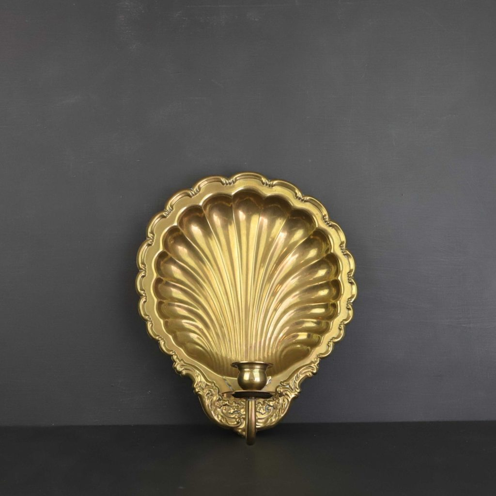 Vintage brass candle sconce on Etsy