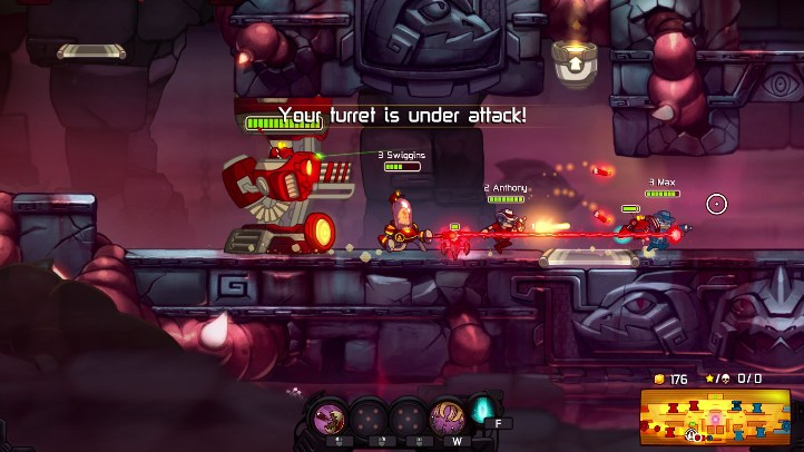 Awesomenauts screenshot with Admiral Swiggins - Ronimo - Still Awesome