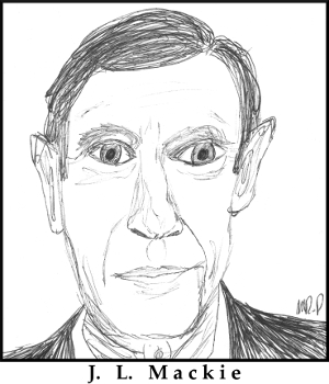 J. L. Mackie Sketch by M.R.P. - consequentalist - deontologist - decision-making
