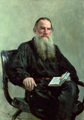 Portrait of Leo Tolstoy by Ilya Efimovich Repin - The Death of Ivan Ilyich - authenticity, existentialism
