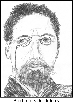Anton Chekhov Sketch by M.R.P. - paradox of fiction - Colin Radford