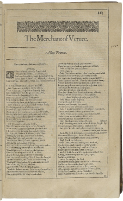 The Merchant of Venice second folio title page - Michael Radford, William Shakespear - 2004 court scene analysis