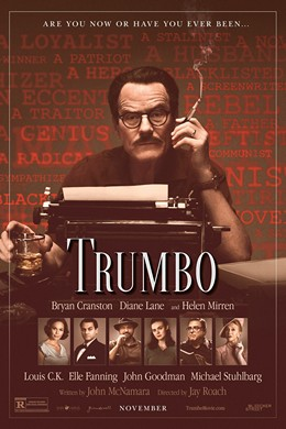 Trumbo movie poster - Jay Roach, historical accuracy, subtle acting