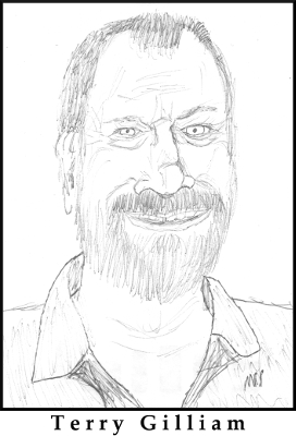 Terry Gilliam Sketch by M.R.P. - Brazil - absurd dystopia satire