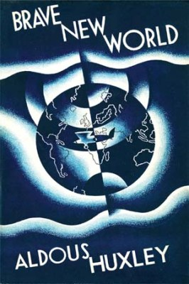 Brave New World book cover - Nabra Nelson - Aldous Huxley - utopia vs. dystopia