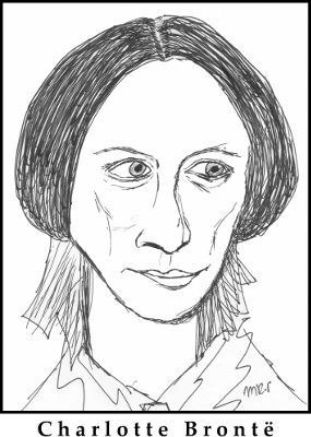 Charlotte Brontë Sketch by M.R.P. - Jane Eyre - feminism and vision