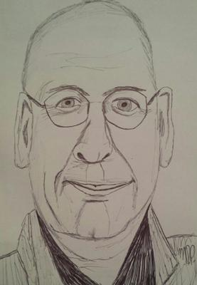 Roddy Doyle Sketch by M.R.P. - The Woman who Walked into Doors - representation abuse poverty